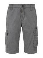 TOM TAILOR Herren Cargo Bermuda-Shorts im Washed-Look , grau, Gr.31