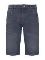TOM TAILOR Herren Josh Regular Slim Jeans-Bermuda-Shorts, blau, Gr.29