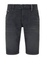 TOM TAILOR Herren Josh Regular Slim Jeans-Bermuda-Shorts, schwarz, Gr.28