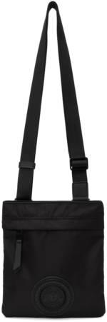 Versace Jeans Couture Black V-Emblem Messenger Bag