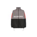 Balenciaga Logo Windbreaker Grey