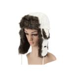 Farbe Wählbar - Strickmütze Kunstfell Mütze Fliegermütze Wintermütze Kappe