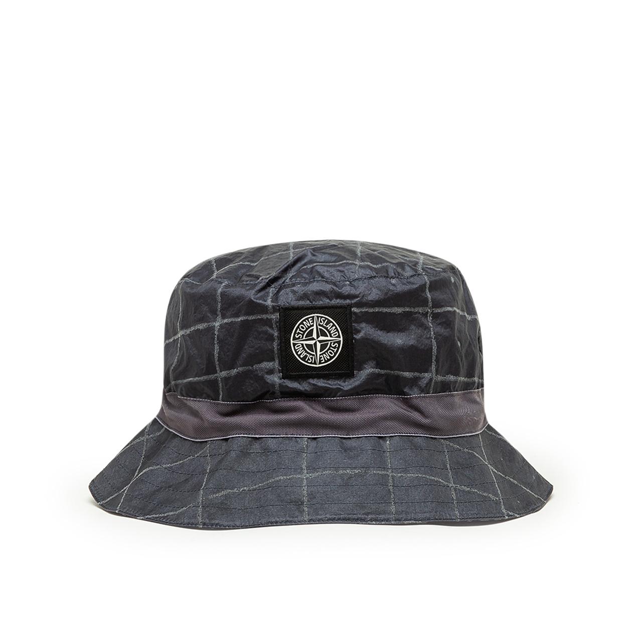 Stone Island Reflective Grid Bucket Hat (Schawrz)